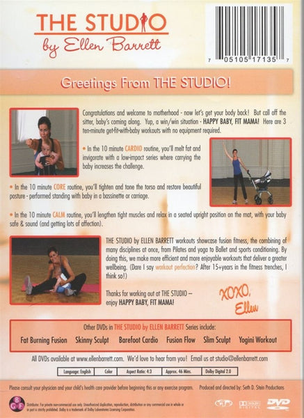The Studio By Ellen Barrett Yogini Workout DVD
