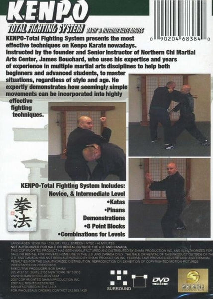 Kenpo Total Fighting System Karate Martial Arts DVD New