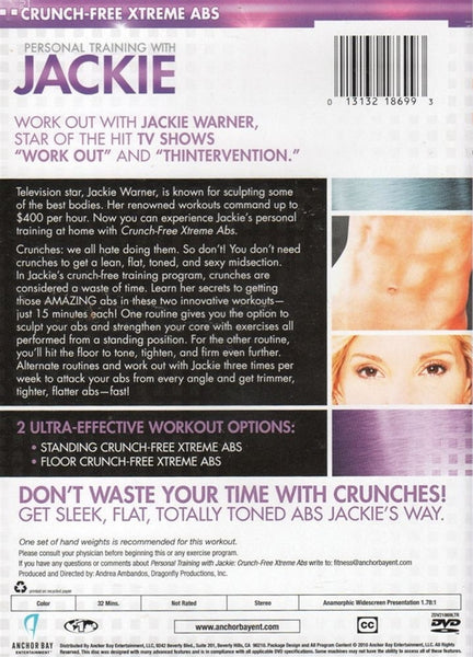 Jackie Warner Personal Training with Jackie Crunch Free Xtreme Abs DVD