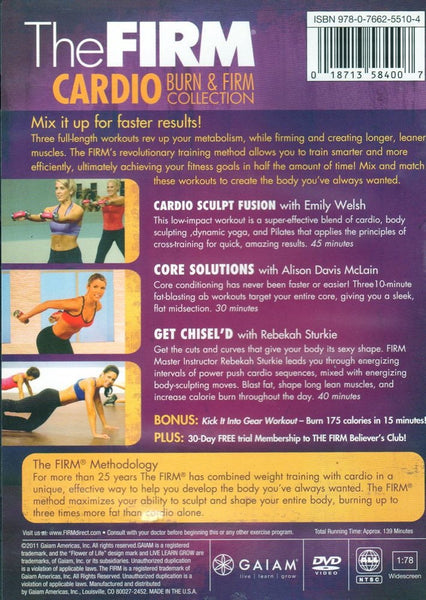 The Firm Cardio Burn & Firm Collection - Cardio Sculpt Fusion, Core Solutions, Get Chisel'd DVD