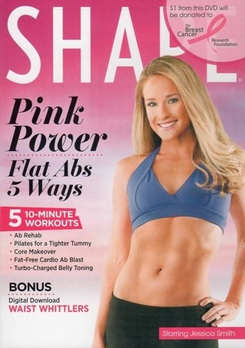 Shape Pink Power Flat Abs 5 Ways DVD - Jessica Smith