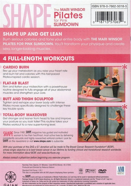 Shape Pilates for Pink Slimdown with Mari Winsor DVD