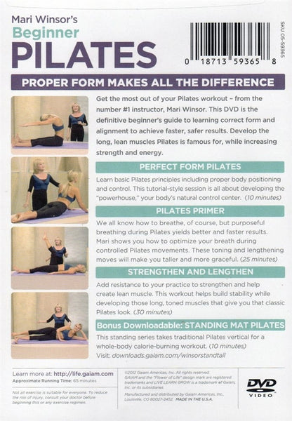 Mari Winsor Beginner Pilates DVD