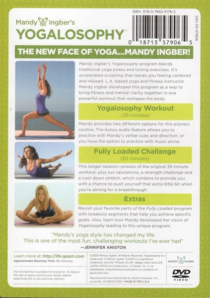 Yogalosophy with Mandy Ingber DVD