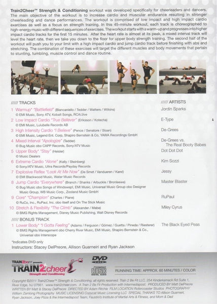 Train2Cheer (Train 2 Cheer) Strength and Conditioning DVD