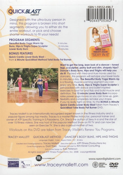 Tracey Mallett Quick Blast Method Dancer's Body Buns, Hips and Thighs DVD