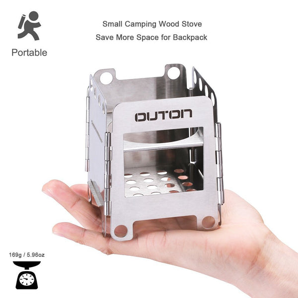 Portable Camping Wood Stove Folding