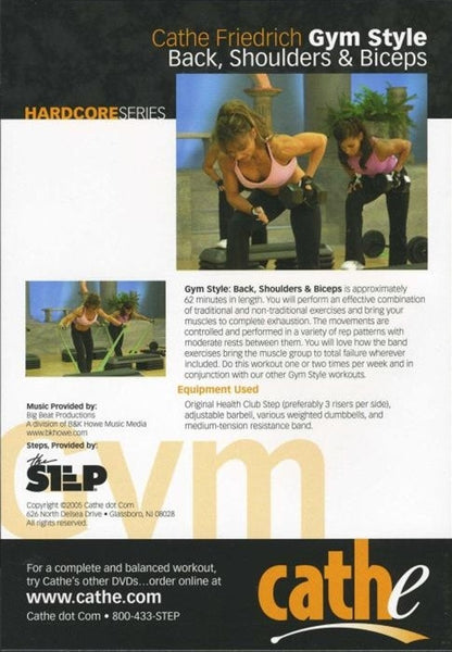 Cathe Friedrich Hardcore Style Gym Style Back Shoulders Biceps DVD