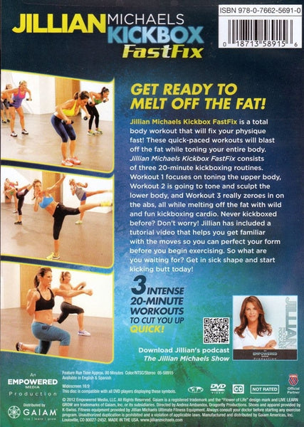 Jillian Michaels Kickbox FastFix DVD (Fast Fix)