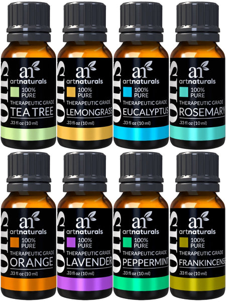Aromatherapy Top 8 Essential Oils | 100% Pure of The Highest Quality Aroma Oils