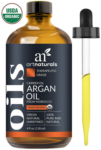 ArtNaturals Pure Morrocan Argan Oil - 4 oz - for Hair, Face & Skin - Grade A Triple Extra Virgin Cold Pressed From The kernels of the Argan Tree - The Anti Aging, Anti Wrinkle Beauty Secret