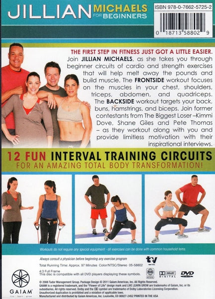 Jillian Michaels for Beginners - Frontside Backside Combo DVD