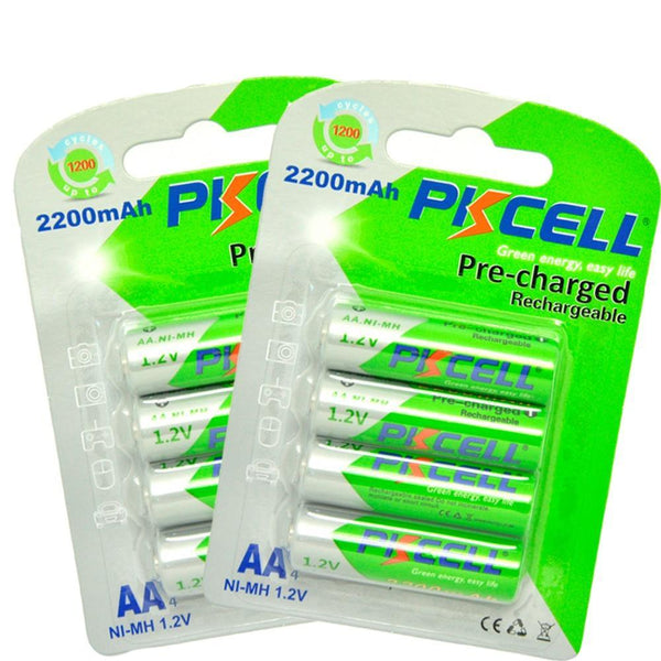 8pcs/2card  AA Rechargeable Battery : No extra shipping