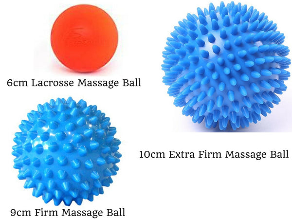 Massage Therapy Ball Set - Spiky and Lacrosse 3-Piece Combo Pack