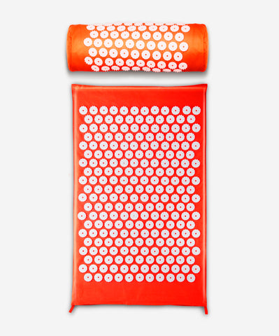 Bhakti Mat Original Free Pillow  | Acupuncture Mat Orange