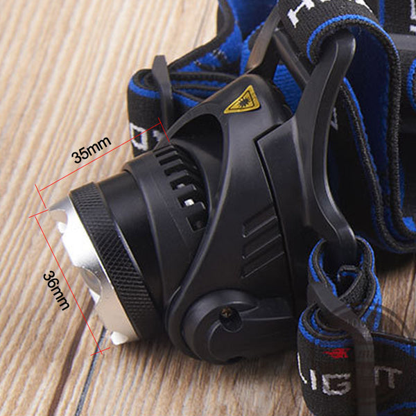 3800LM Led Headlamp Zoomable Bicycle and Fishing Light