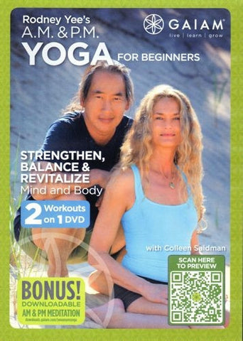AM PM Yoga for Beginners DVD - Rodney Yee & Colleen Saidman