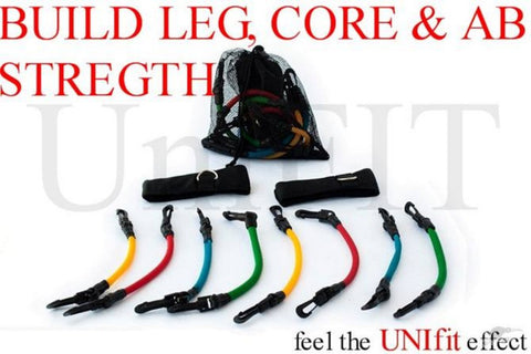 Fitness Exercise Resistance Leg Bands Tubes Set