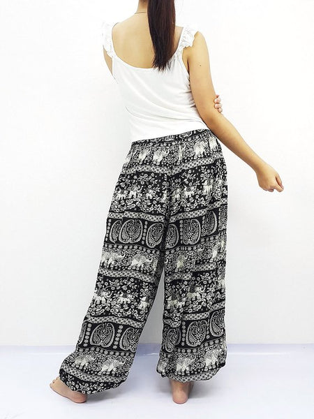 Black Harem Pants Women UNISRT@21