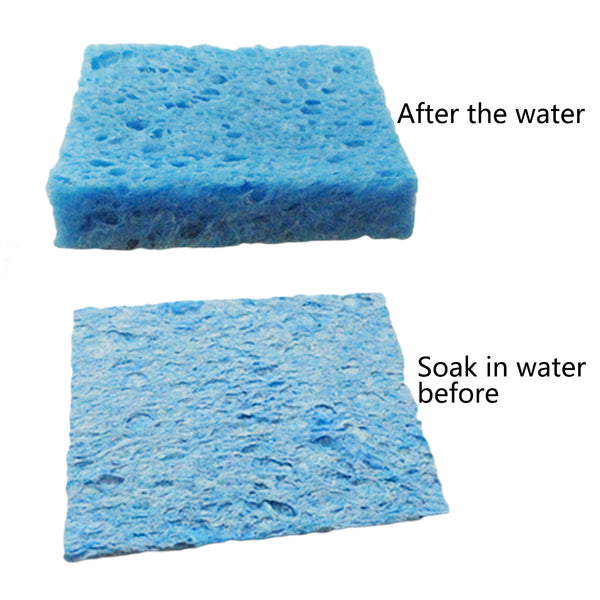 Solder Tip Welding Cleaning Sponge Pads Blue and Yellow