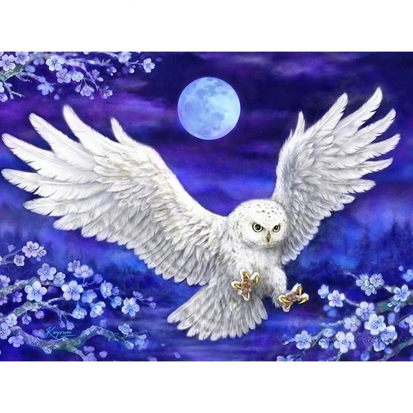 5D Diamond Painting Animal Owl Full Square  Picture