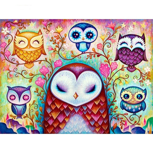 Diamond Embroidery Animals Mosaic Cross Stitch Owl