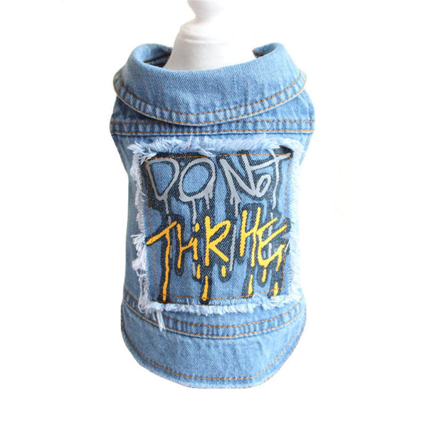 Personalized Patch Graffiti Tassel Pattern Cowboy Dog Clothes
