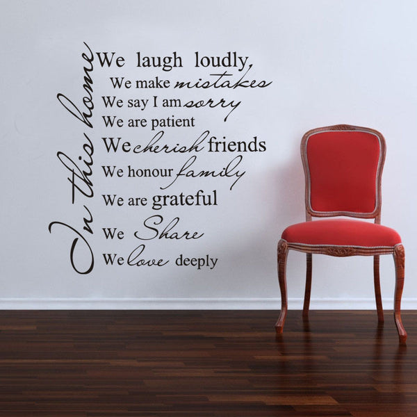 "Modern PVC Characters ""Family is everything"" Wall Stickers"