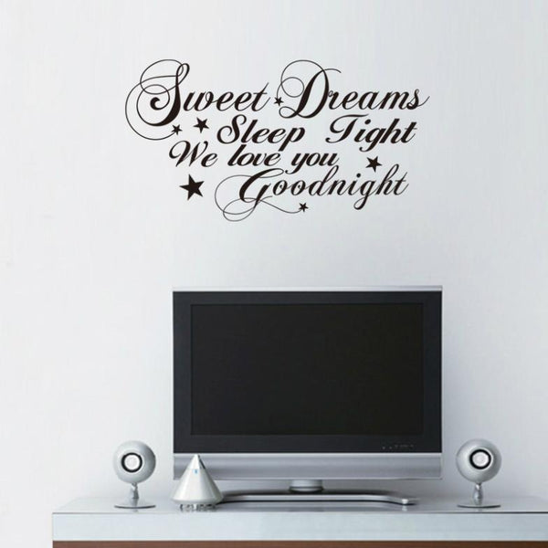 Sweet Dreams The Living Room Bedroom Wall Stickers
