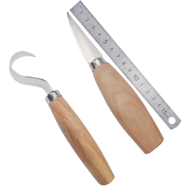 2PCS/Set Stainless Steel Woodcarving Cutter