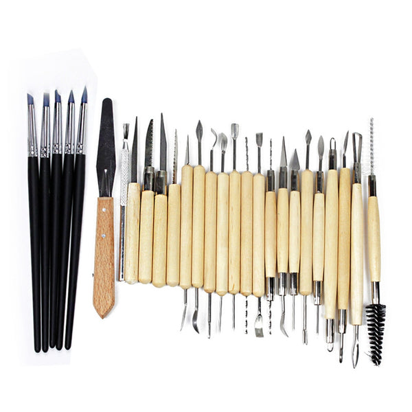 27pcsCarving Modeling Pottery Hobby Tools