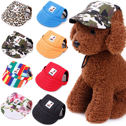 Pet Dog Cap Small Pet Summer Canvas Cap