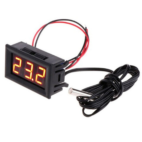 Digital Thermometer 12V Temperature Meter K-Type