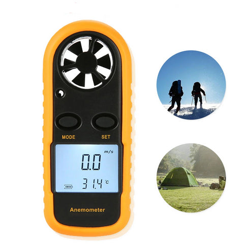 30m/s GM816 Digital LCD Thermometer Anemometer (65MPH)