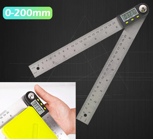 200mm Digital Protractor Inclinometer Goniometer Level Measuring