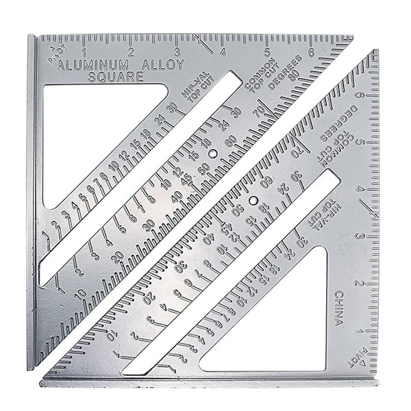 Square Protractor Aluminum Alloy Miter Framing Tri-square Line Scriber
