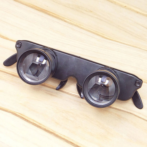 Black 3x28 Magnifier Glasses Style Outdoor Fishing Optics Binoculars Telescope