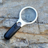 High Quality 3 Led Lights 3X 45X Handheld Reading Magnifier
