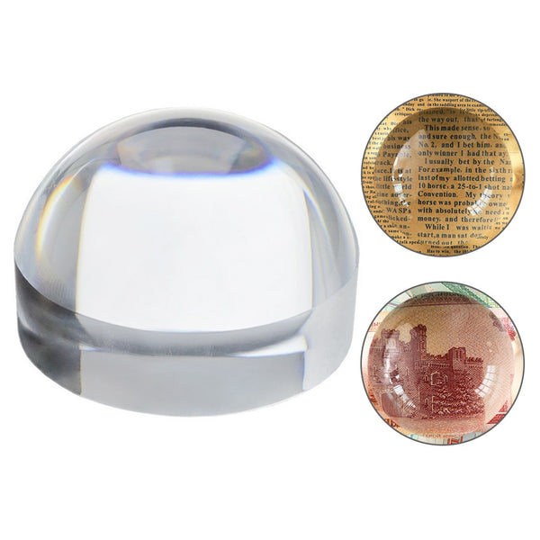 6X 80mm Magnifier Crystal Acrylic Magnifying Glass