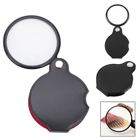 8X Black Mini Pocket Jewelry Magnifier