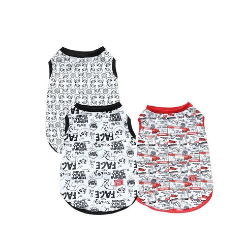Pet Small Dog Cat Clothes Summer 3 Cartoon Styles Dog T-shirt