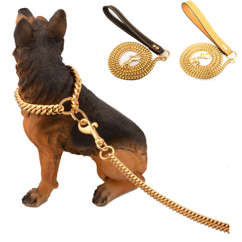 Stainless Steel Pet Gold Chain Dog Leashes