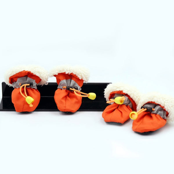 Reflective Pet Dog Shoes Waterproof Winter Anti-slip Snow Boots