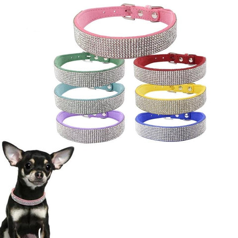 12 Styles Soft Suede Leather Puppy Dog Cat Collar