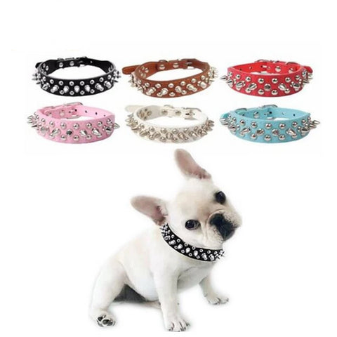 Fashion Pu Leather Dog Cat Collar