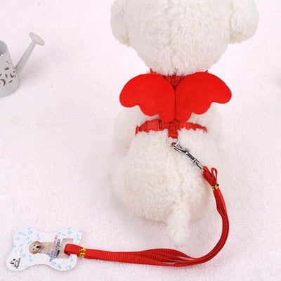 Wing Adjustable Harness Straps For Small Dogs Teddy