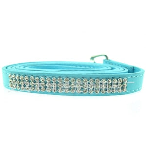 Dog Cat Pu Leather Bling Rhinestone Leash
