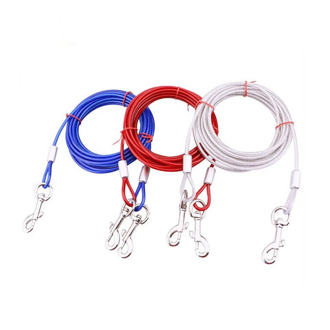 Pet Dog Buffer Double Leash Headed Pet Tow Rope 3 Color