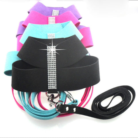 Pet Dog Harness Bling Rhinestone Dog