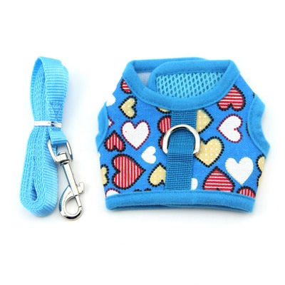Adjustable Pet Dog Harness with Rope